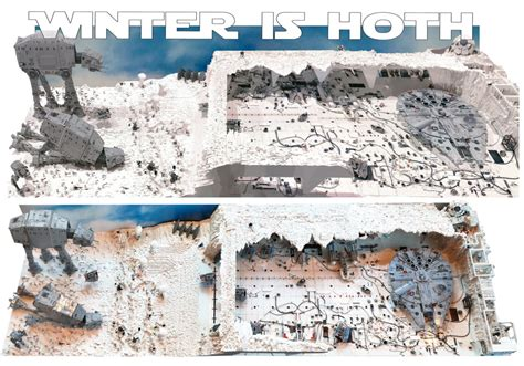 lego star wars layout winter  hoth zusammengebautcom