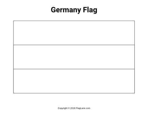 Free Germany Flag Coloring Page