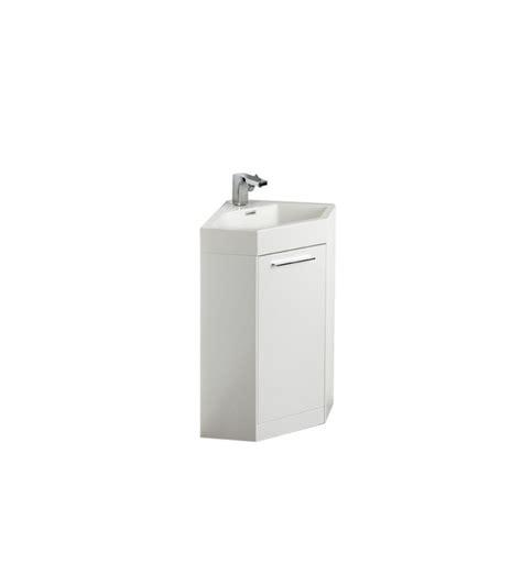 small white modern corner bathroom vanity