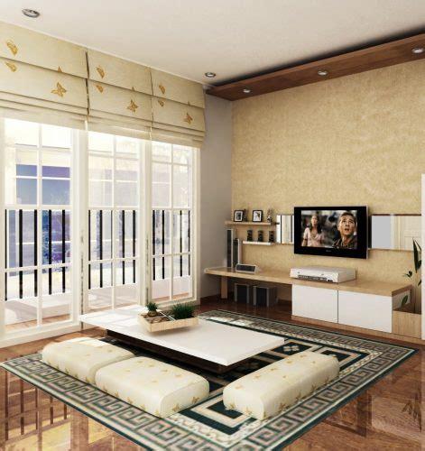 ruang tamu simple tanpa sofa menata desain ruang tamu tanpa kursi atau sofa renovasi