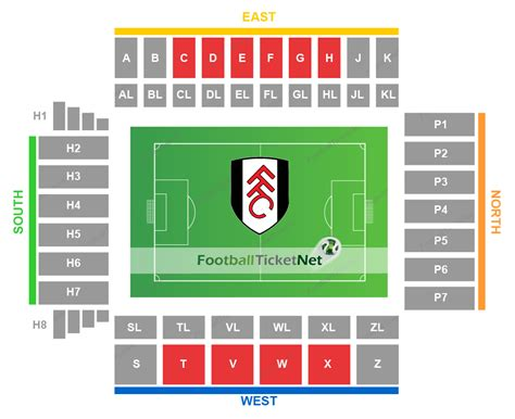craven cottage seating plan fulham vs west ham united 15 12 2018 football ticket net