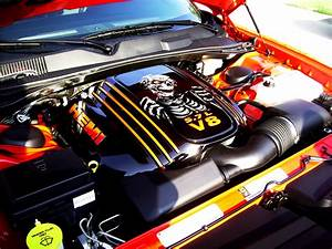 Custom Painted Engine Cover For Dodge Challenger