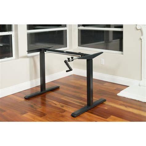 ergomax black adjustable height crank desk frame table top  included abcbk  home depot