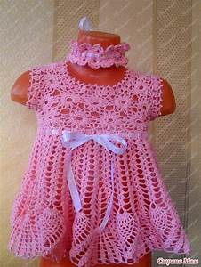 crochet baby dress croche bebe vestidos magnifique robe With robe crochet bébé