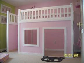diy loft bed white playhouse loft bed diy projects