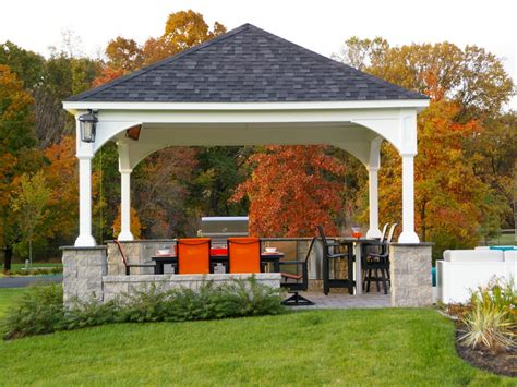 outdoor kitchen pavilion designs outdoor pavilion plans that offer a pleasant relaxing time 3863
