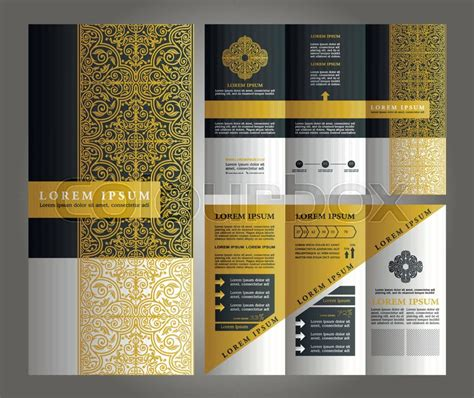brochure vector design flyer creative template trifold