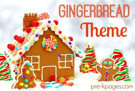 gingerbread man theme activities  preschool