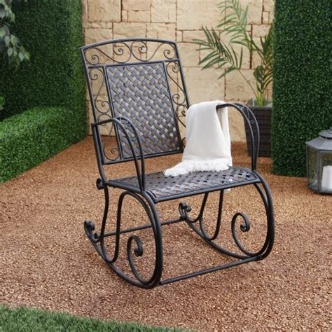 other brands brighton iron rocking chair contemporary