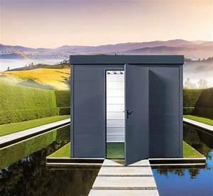 Abri De Jardin En Toile : stunning abri de jardin toit plat beton gallery design ~ Dailycaller-alerts.com Idées de Décoration