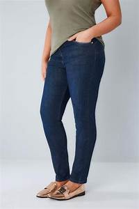 Indigo Blue Skinny Shaper Ava Jeans  Plus Size 14 To 28