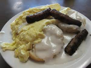 Biscuits and Gravy Eggs