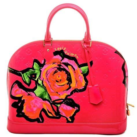 louis vuitton vernis roses alma monogram gm bag  rose pop worlds