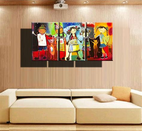3 panel abstract handmade decorative canvas wall