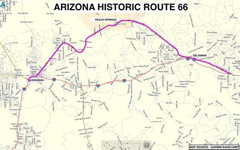 route  arizona map paintingsforsale