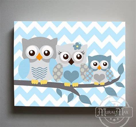 Wandtattoo Eule Kinderzimmer by Owl Decor Boys Wall Owl Canvas Owl Nursery