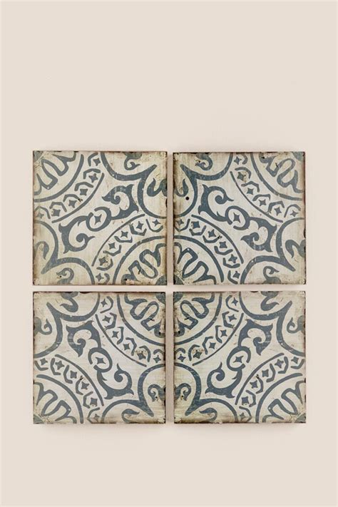 printed tile wall decor set s
