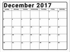 December 2017 Calendar Printable Template with Holidays UK