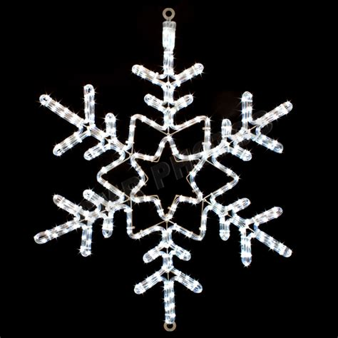 28 quot led snowflake rope light motif silhouette display