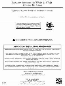 Goodman  Mvm96 Installation Instructions Manual Pdf