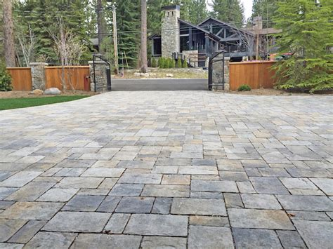 concrete paver patio paver installation in incline truckee and reno nevada