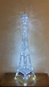 eiffel tower crystal diamante silver floor led lamp With silver diamante floor lamp