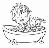 Bath Boy Bubble Coloring Clip Bathtub Vector Illustrations Istock Istockphoto Newest Results Visit sketch template