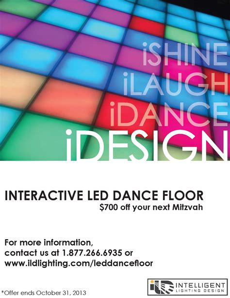 idesign led dance floor debuts  austin mitzvah