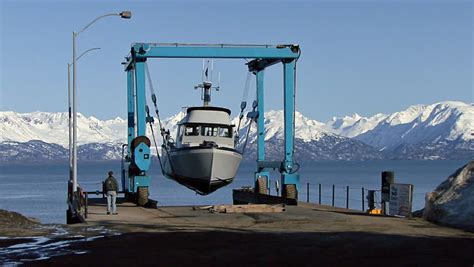 Boat Lift Out Of Water by Homer Ak Circa 2012 The Travel Lift Is A Sling