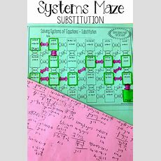 Solving Systems Of Equations By Substitution Maze  Them, Maze And Equation