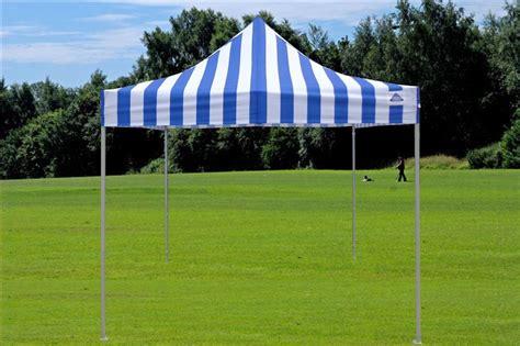pop canopy party tent gazebo ez blue stripe model ebay