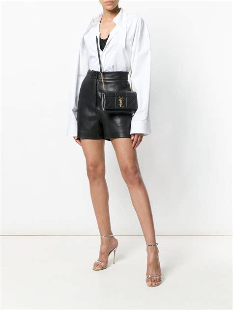 saint laurent leather small jamie bag  black lyst