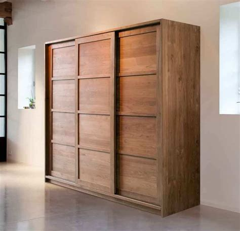Wooden Sliding Triple Wardrobe Furniture  Modern And