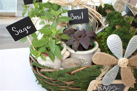 Herb Filled Moss Basket (diy Gift Idea