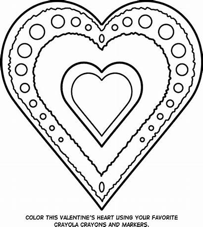 Heart Valentine Coloring Pages Crayola Valentines