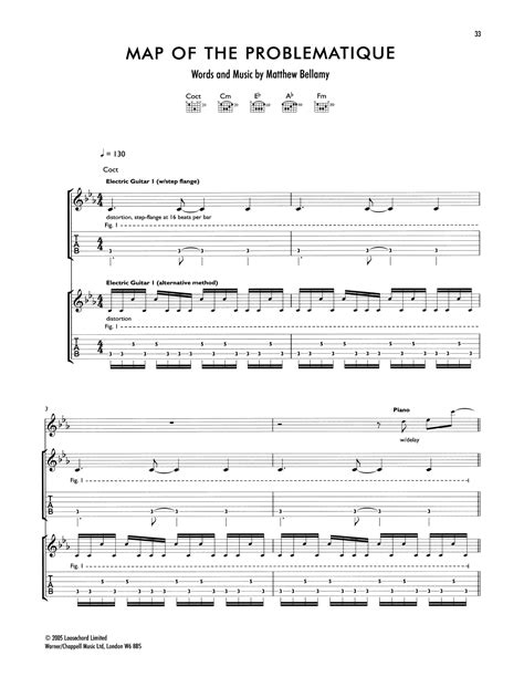 map   problematique guitar tab  muse guitar tab
