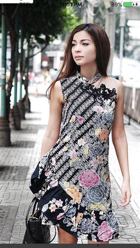 pin oleh ratna  batik   gaun gaun pendek