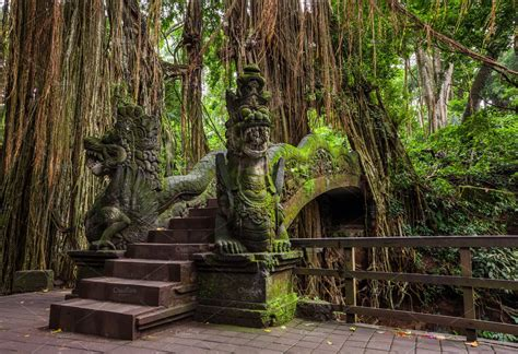 dragon bridge  monkey forest bali architecture