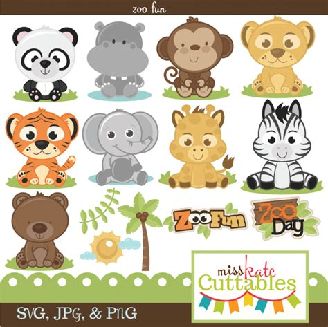 Professional baby jungle animals clipart & vector set baby | etsy. Pin on Digital Scrapbooking/Clip Art