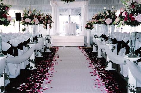 Black And White Wedding Ceremony Wedding Ceremony