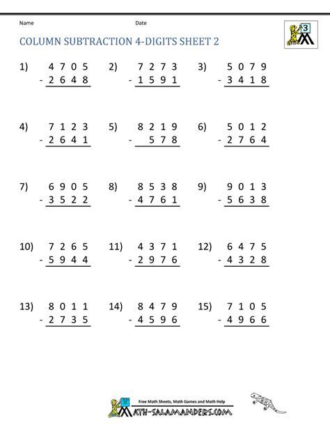 addition  subtraction worksheets  grade