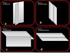4 Virtual Welding Positions  A  3f Vertical Tee  B  3g
