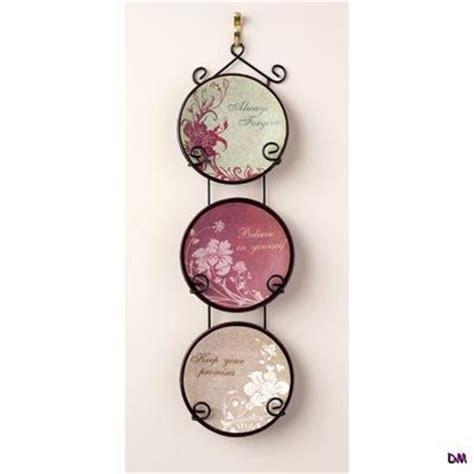 set   inspirational decorative ceramic plates  metal scrollwork wall rack ebay