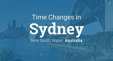daylight saving time sydney south wales australia