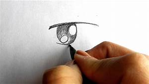 Drawing a simple boy anime/manga eye - YouTube