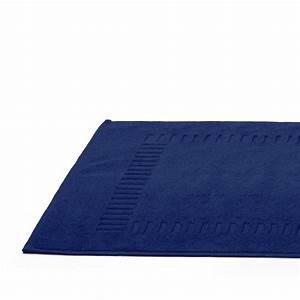 tapis de bain 50x70cm coton uni pure bleu marine linnea With tapis bleu marine