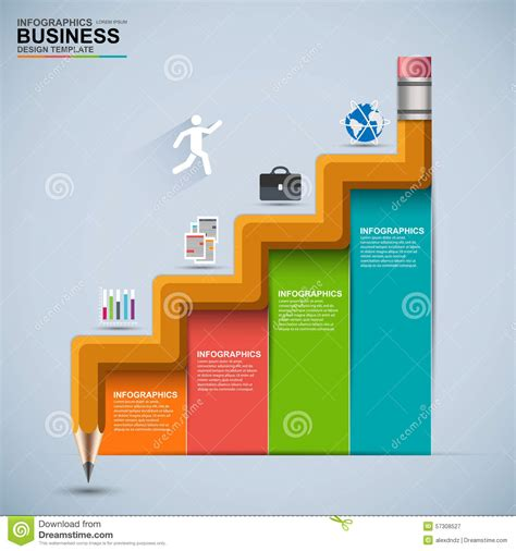 infographic business staircase education vector design