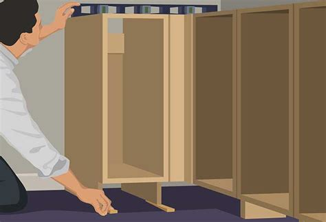 how to install a cabinet filler base cabinet installation guide at the home depot