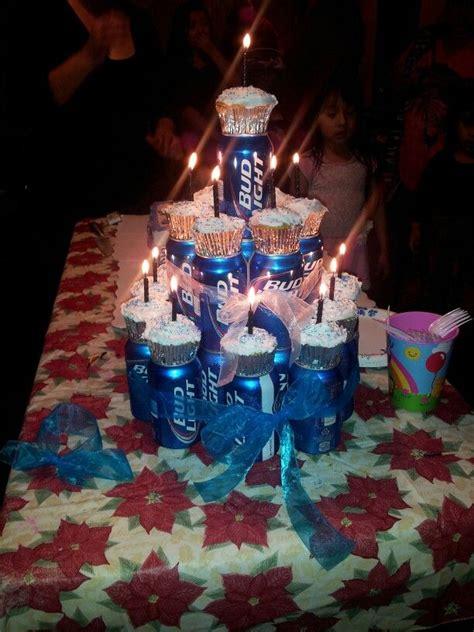 boyfriends st birthday beer  cake cool beans