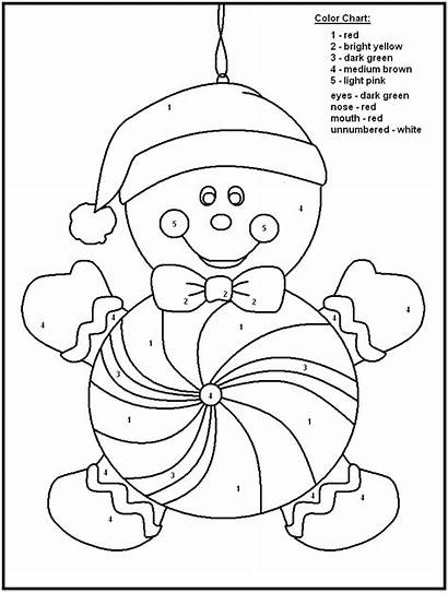 Coloring Christmas Numbers Number Printable Pages Printables